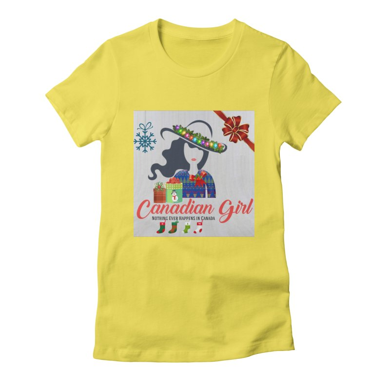 Holiday Canadian Girl Women's Fitted T-Shirt by The Nothing Canada Souvenir Shop