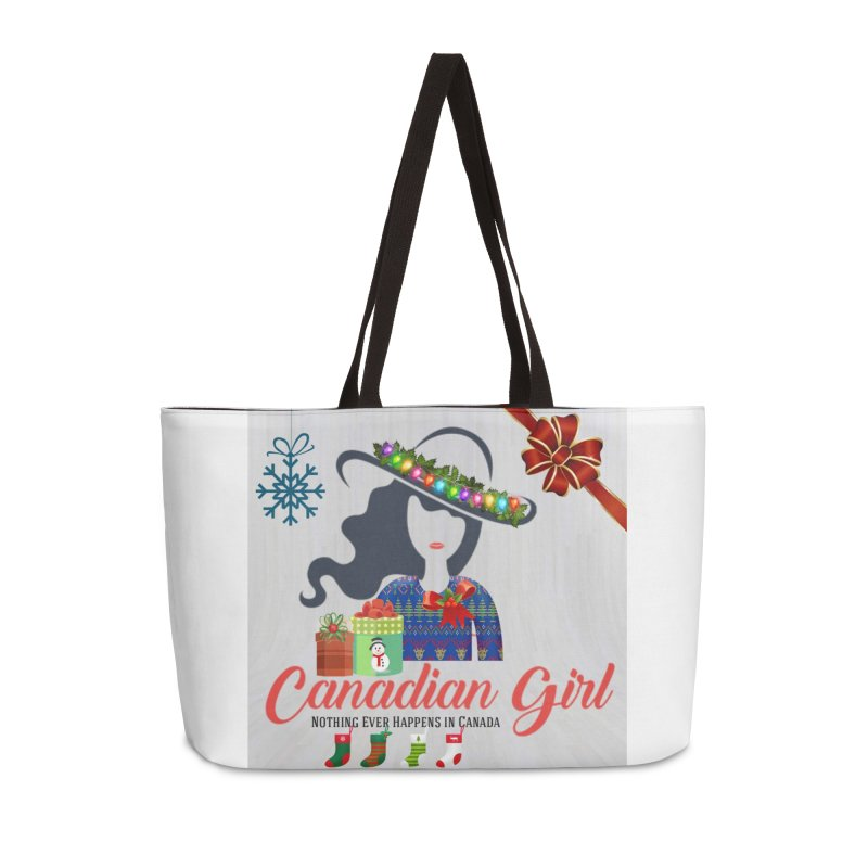 Holiday Canadian Girl Accessories Weekender Bag Bag by The Nothing Canada Souvenir Shop