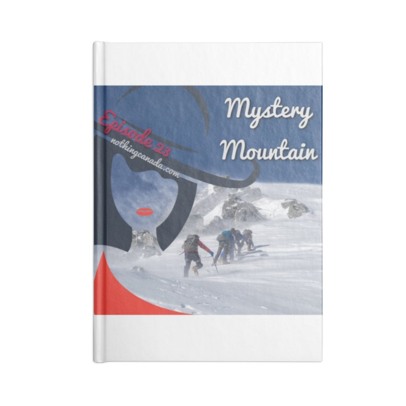 Mystery Mountain Accessories Blank Journal Notebook by The Nothing Canada Souvenir Shop