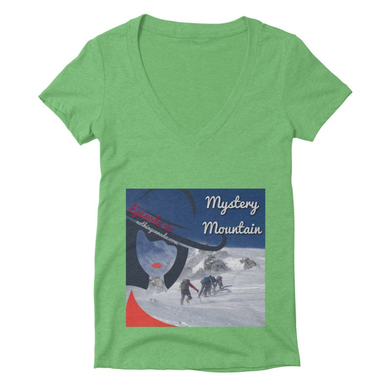 Mystery Mountain Women's Deep V-Neck V-Neck by The Nothing Canada Souvenir Shop
