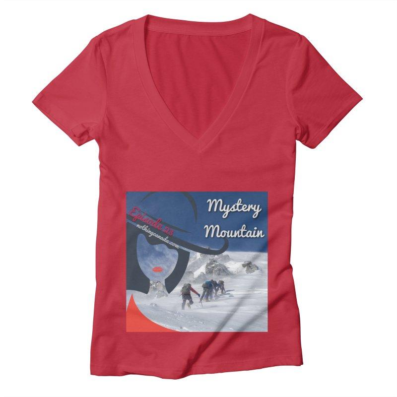 Mystery Mountain Women's Deep V-Neck V-Neck by The Nothing Canada Souvenir Shop