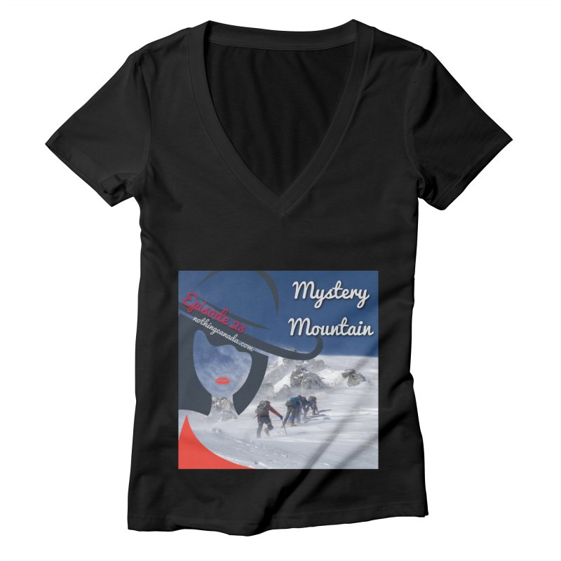 Mystery Mountain Women's V-Neck by The Nothing Canada Souvenir Shop