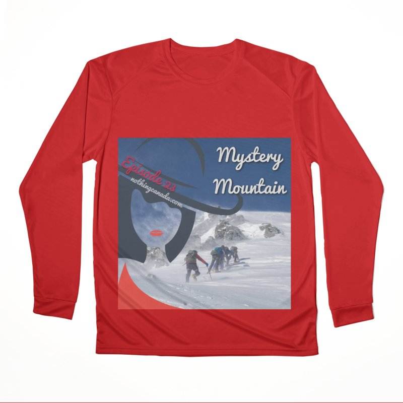 Mystery Mountain Men's Performance Longsleeve T-Shirt by The Nothing Canada Souvenir Shop
