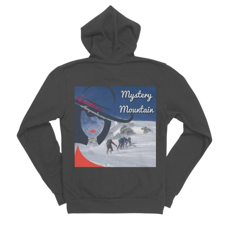 Mystery Mountain Men's Sponge Fleece Zip-Up Hoody by The Nothing Canada Souvenir Shop