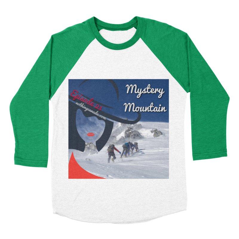 Mystery Mountain Women's Baseball Triblend Longsleeve T-Shirt by The Nothing Canada Souvenir Shop