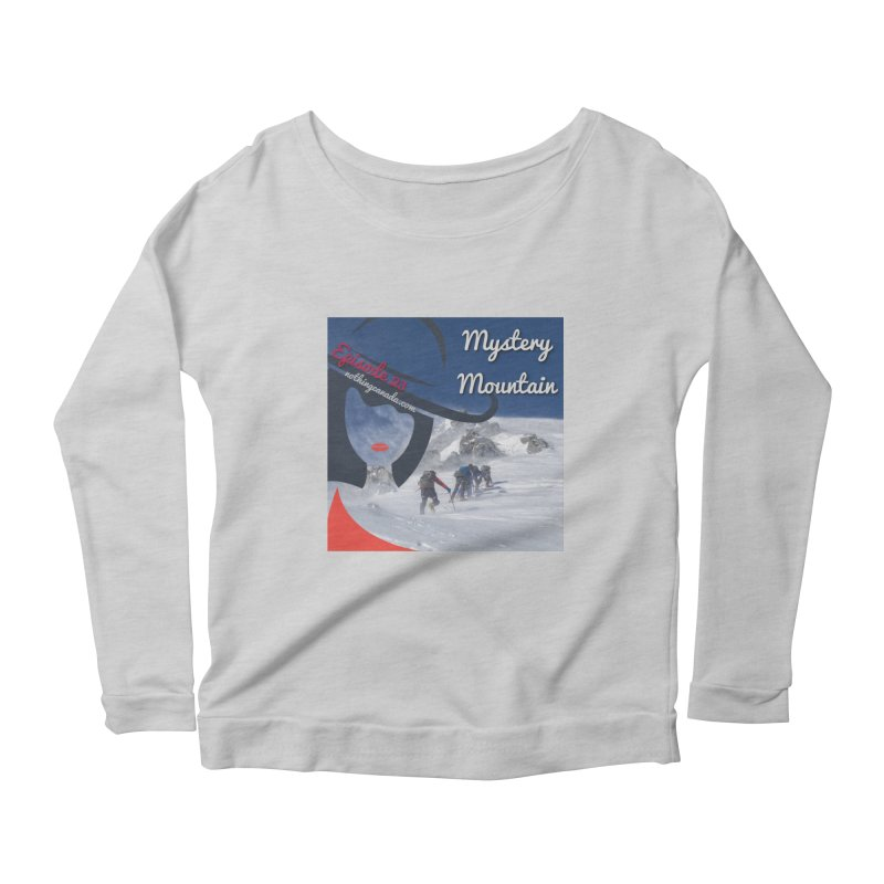 Mystery Mountain Women's Scoop Neck Longsleeve T-Shirt by The Nothing Canada Souvenir Shop