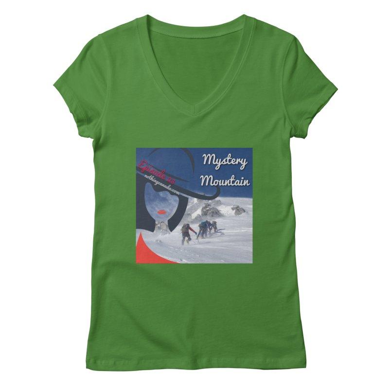 Mystery Mountain Women's Regular V-Neck by The Nothing Canada Souvenir Shop