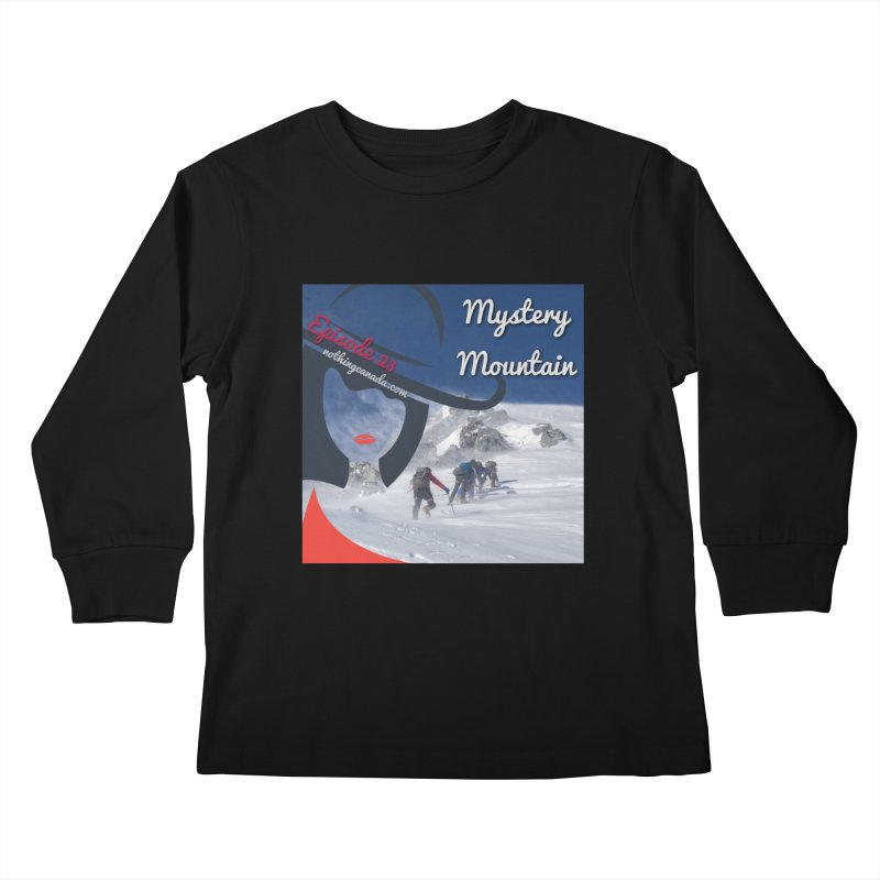 Mystery Mountain Kids Longsleeve T-Shirt by The Nothing Canada Souvenir Shop
