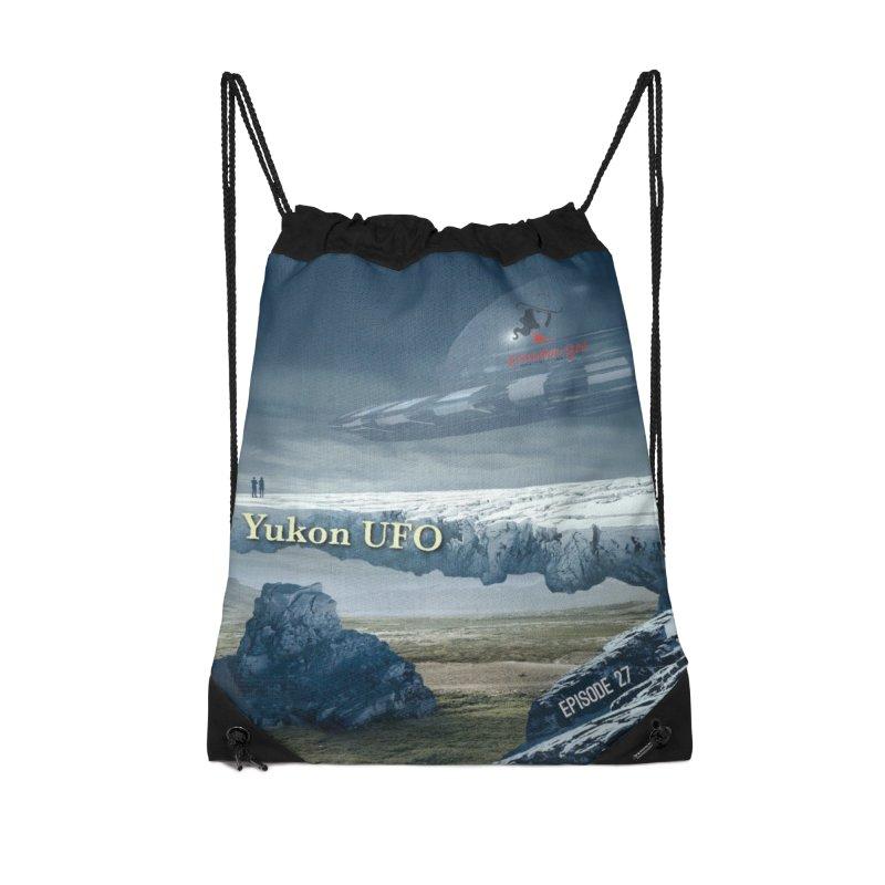 The Yukon UFO Accessories Drawstring Bag Bag by The Nothing Canada Souvenir Shop