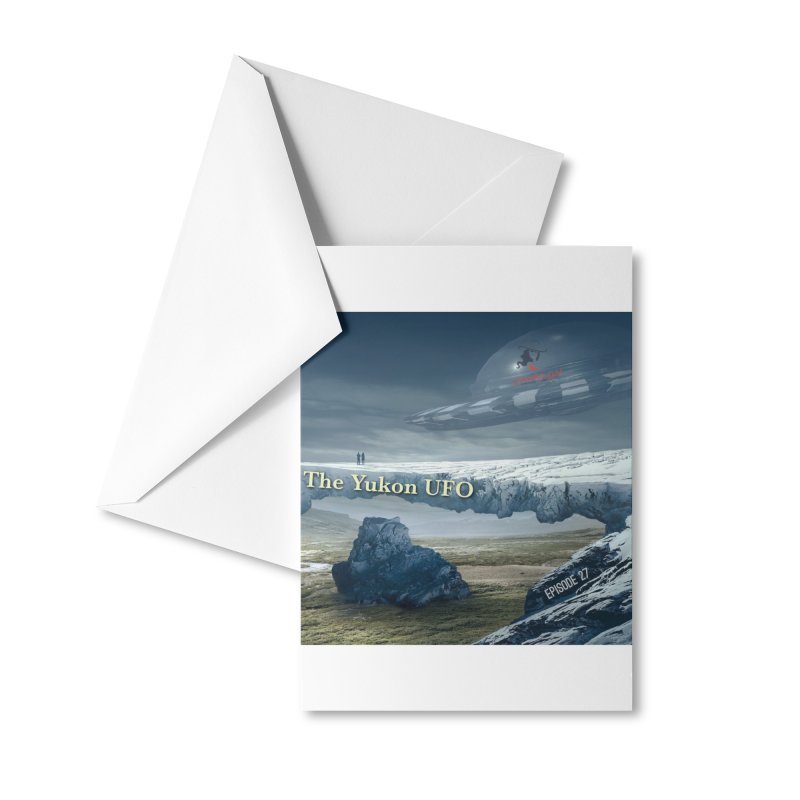 The Yukon UFO Accessories Greeting Card by The Nothing Canada Souvenir Shop