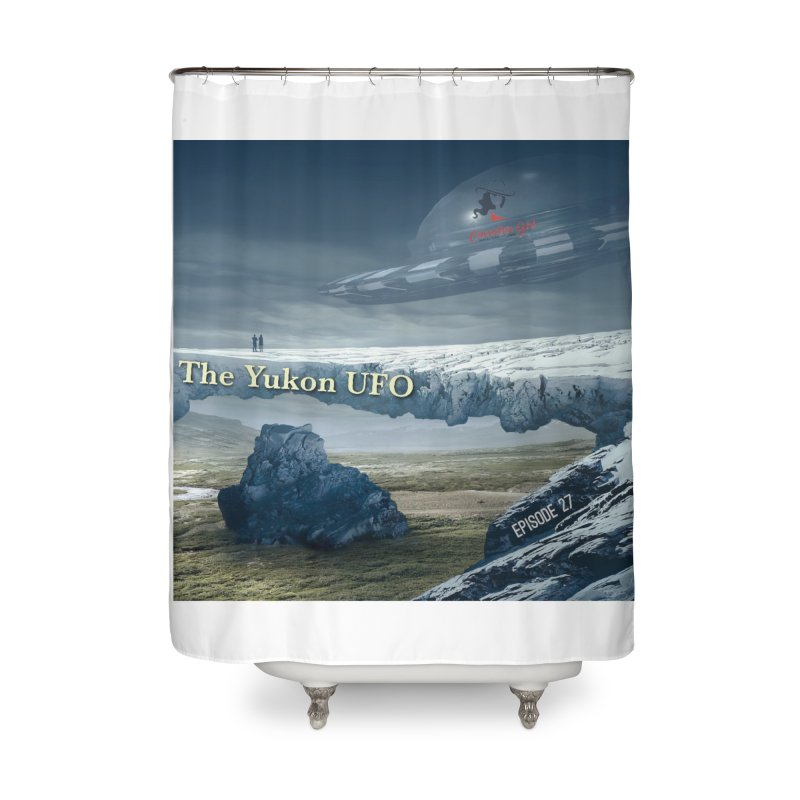 The Yukon UFO Home Shower Curtain by The Nothing Canada Souvenir Shop
