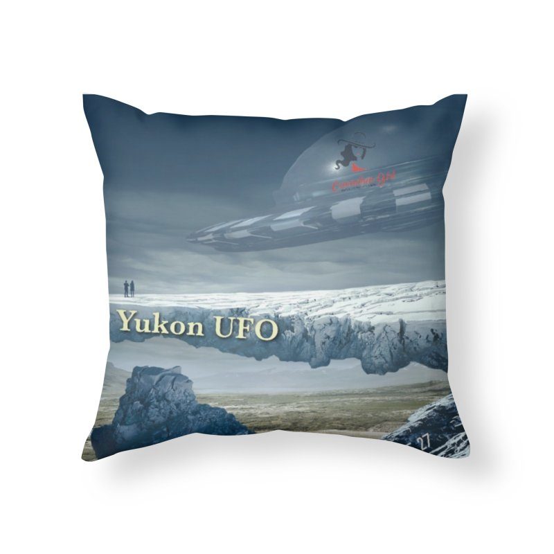The Yukon UFO Home Throw Pillow by The Nothing Canada Souvenir Shop