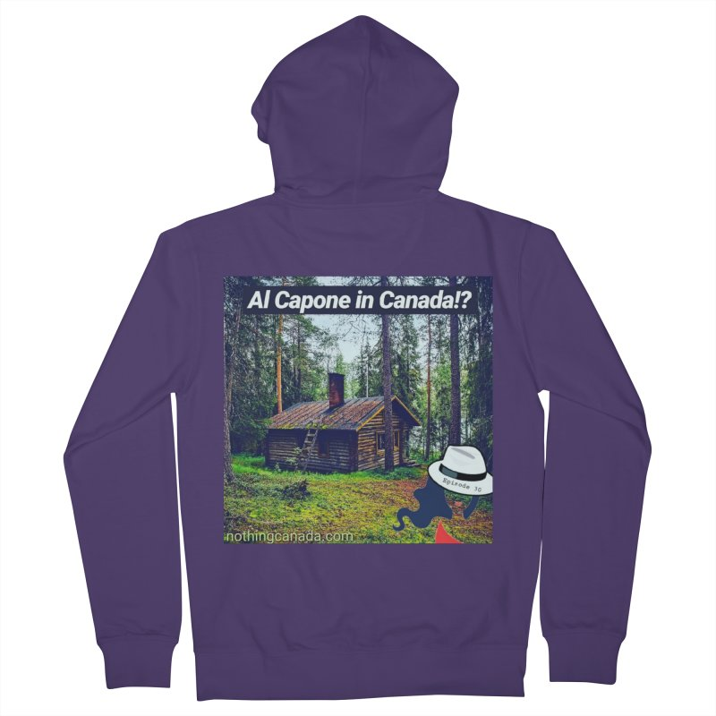 Al Capone in Canada!? Women's French Terry Zip-Up Hoody by The Nothing Canada Souvenir Shop