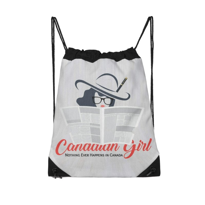 Women in Writing Accessories Drawstring Bag Bag by The Nothing Canada Souvenir Shop