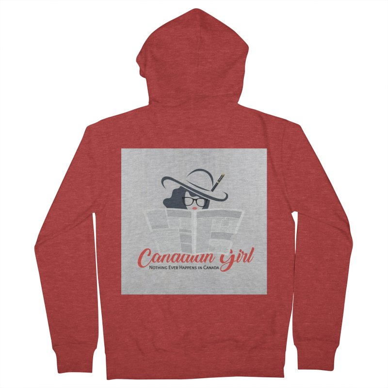 Women in Writing Women's French Terry Zip-Up Hoody by The Nothing Canada Souvenir Shop