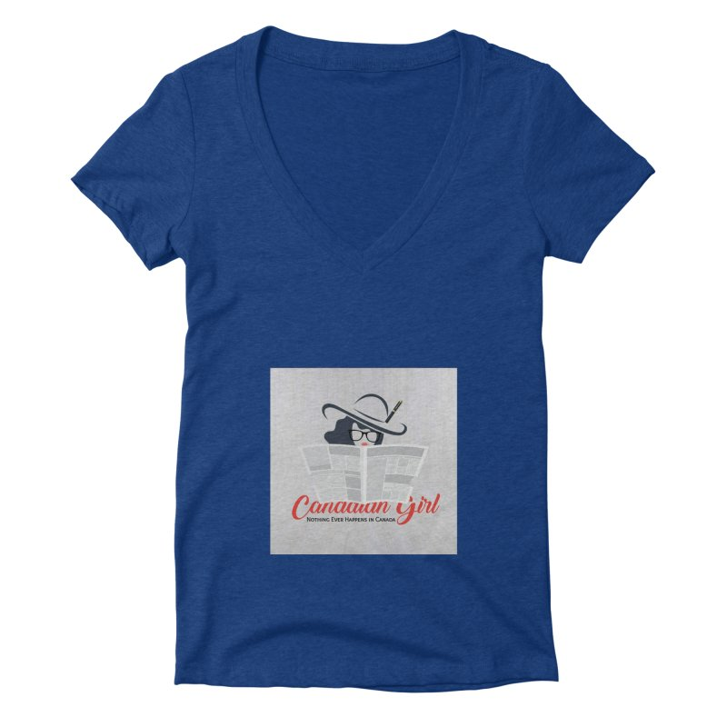 Women in Writing Women's V-Neck by The Nothing Canada Souvenir Shop
