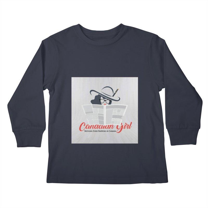Women in Writing Kids Longsleeve T-Shirt by The Nothing Canada Souvenir Shop