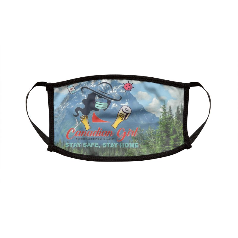 Stay Safe Masks and Stickers Accessories Face Mask by The Nothing Canada Souvenir Shop