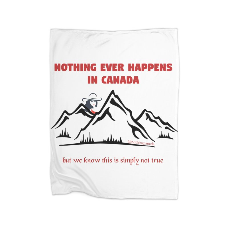 Canadian Girl - Mountains Home Blanket by The Nothing Canada Souvenir Shop
