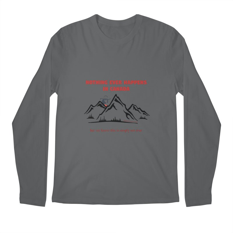 Canadian Girl - Mountains Men's Longsleeve T-Shirt by The Nothing Canada Souvenir Shop