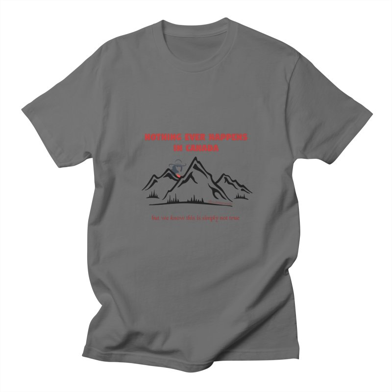 Canadian Girl - Mountains Men's T-Shirt by The Nothing Canada Souvenir Shop