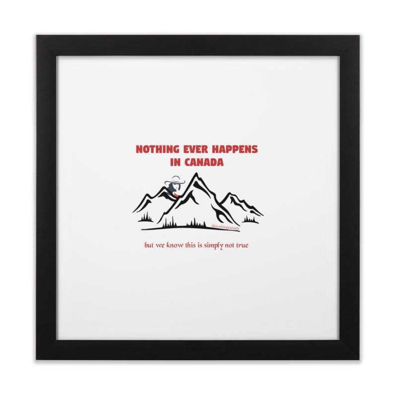 Canadian Girl - Mountains Home Framed Fine Art Print by The Nothing Canada Souvenir Shop
