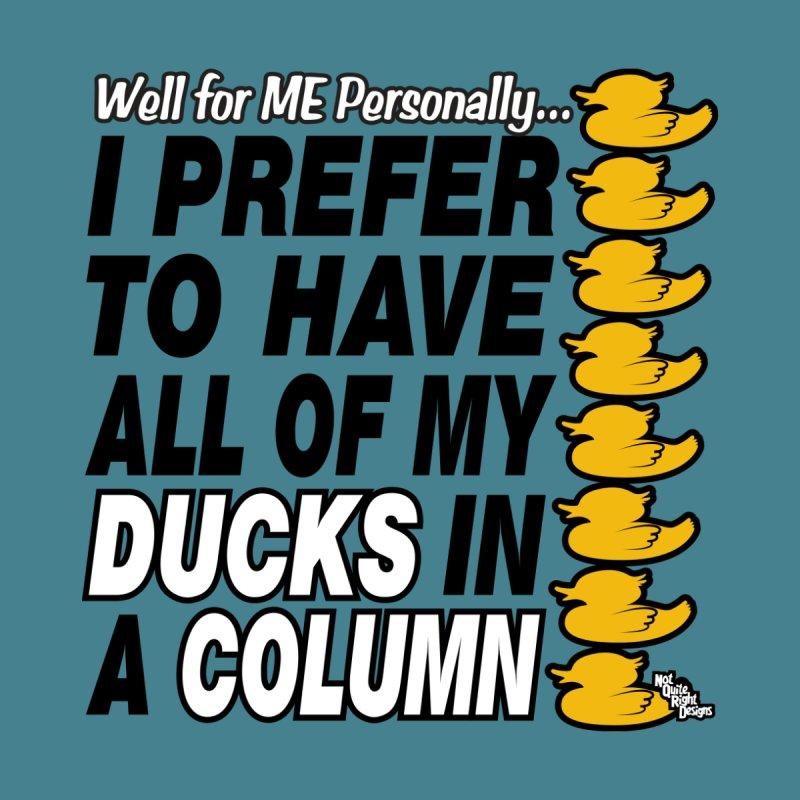 DUCKS IN A COLUMN Men's T-shirt by NotQuiteRightDesigns