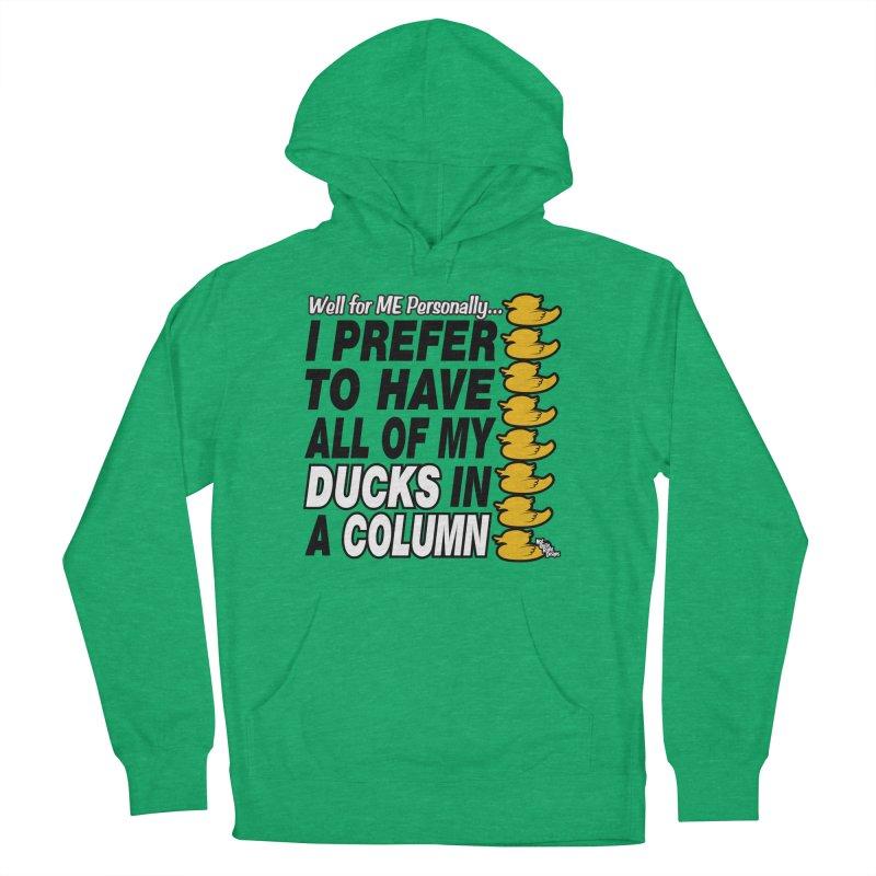 DUCKS IN A COLUMN Women's Pullover Hoody by NotQuiteRightDesigns