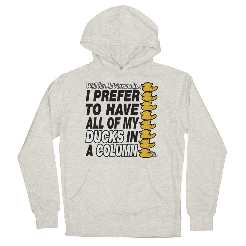 DUCKS IN A COLUMN Men's Pullover Hoody by NotQuiteRightDesigns