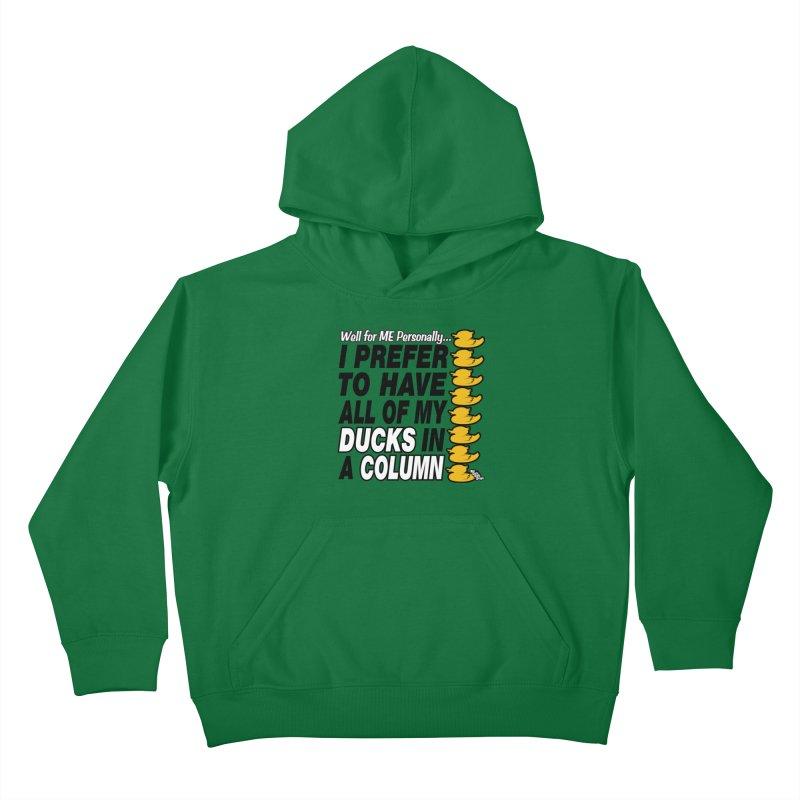 DUCKS IN A COLUMN Kids Pullover Hoody by NotQuiteRightDesigns