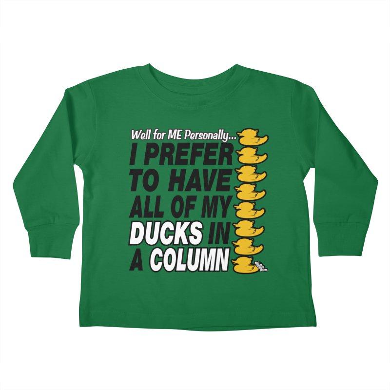 DUCKS IN A COLUMN Kids Toddler Longsleeve T-Shirt by NotQuiteRightDesigns