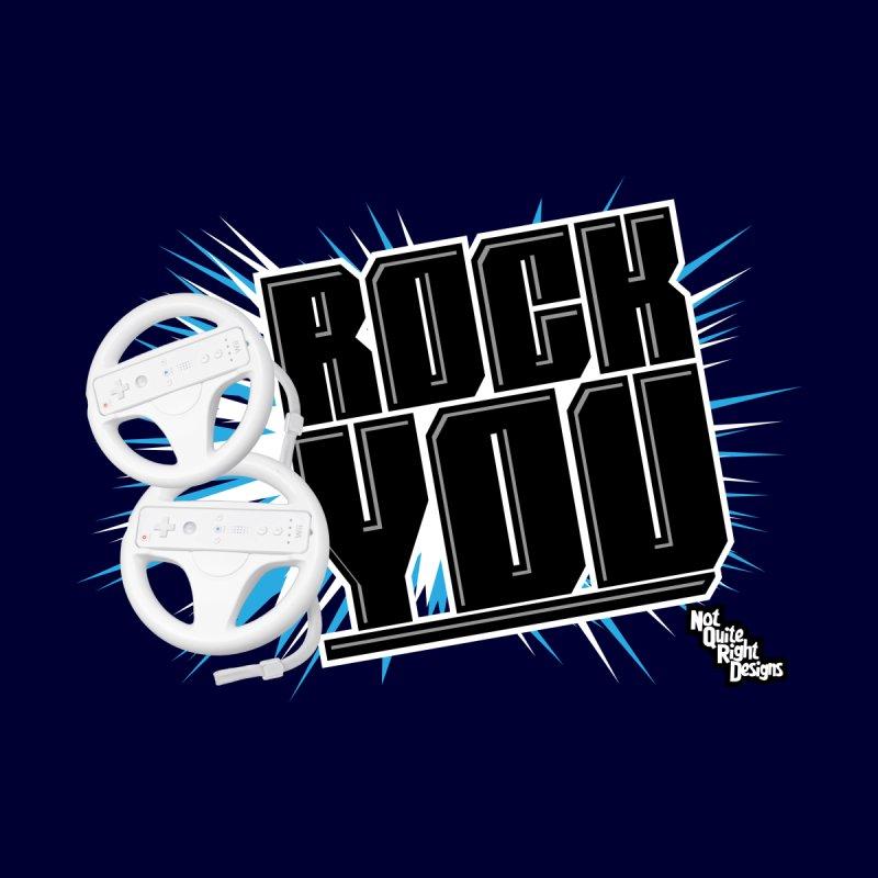 Wii Wheel Wii Wheel Rock You Men's T-shirt by NotQuiteRightDesigns