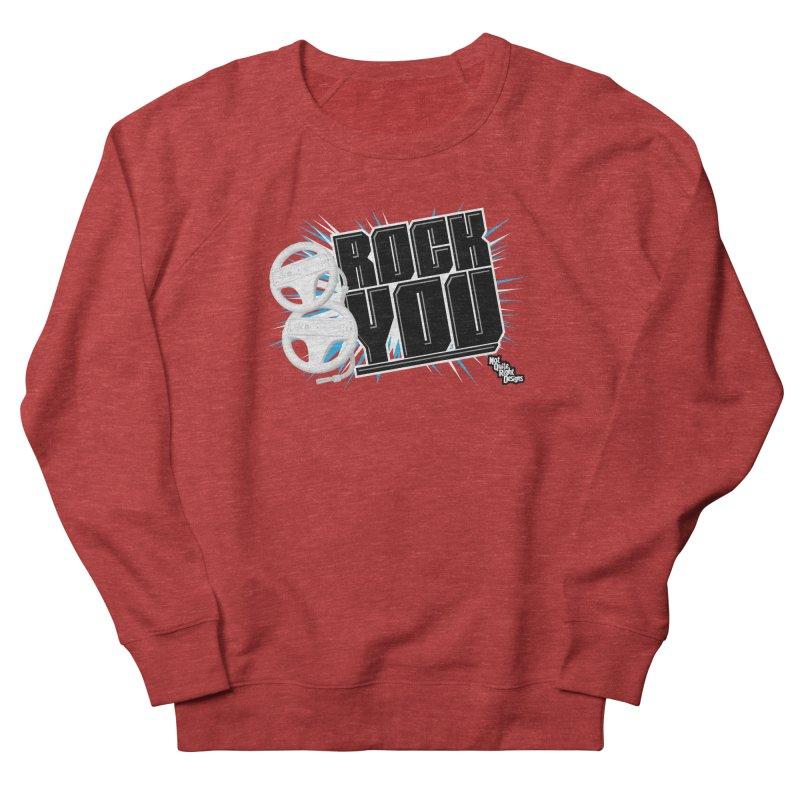 Wii Wheel Wii Wheel Rock You Men's Sweatshirt by NotQuiteRightDesigns