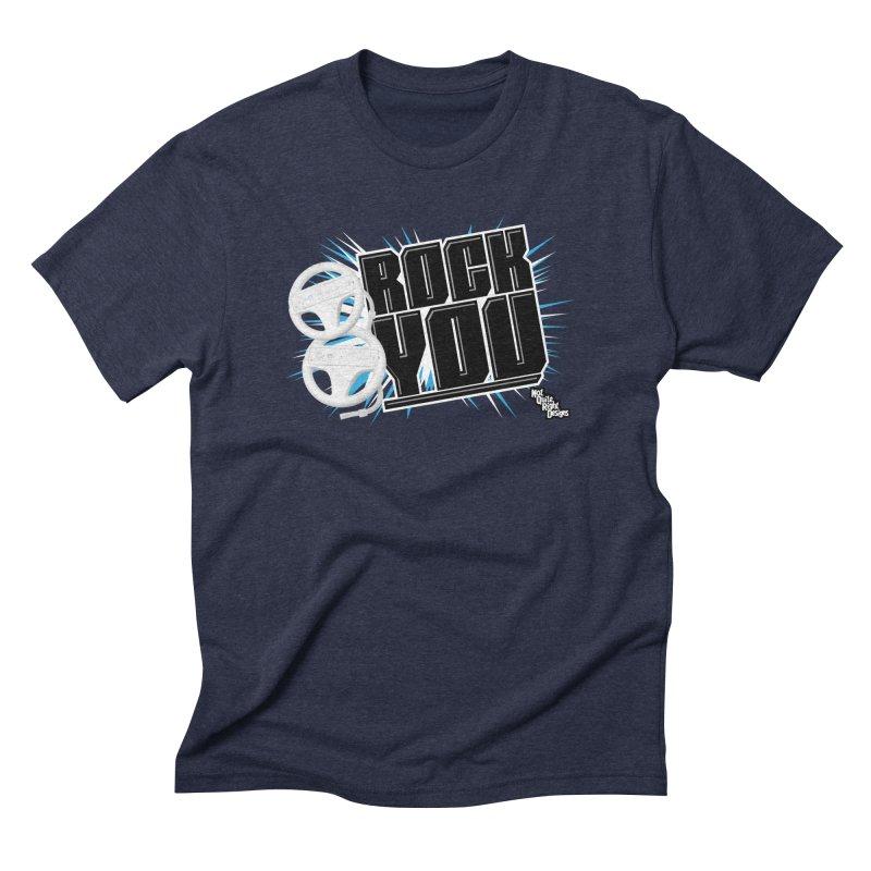 Wii Wheel Wii Wheel Rock You Men's Triblend T-shirt by NotQuiteRightDesigns