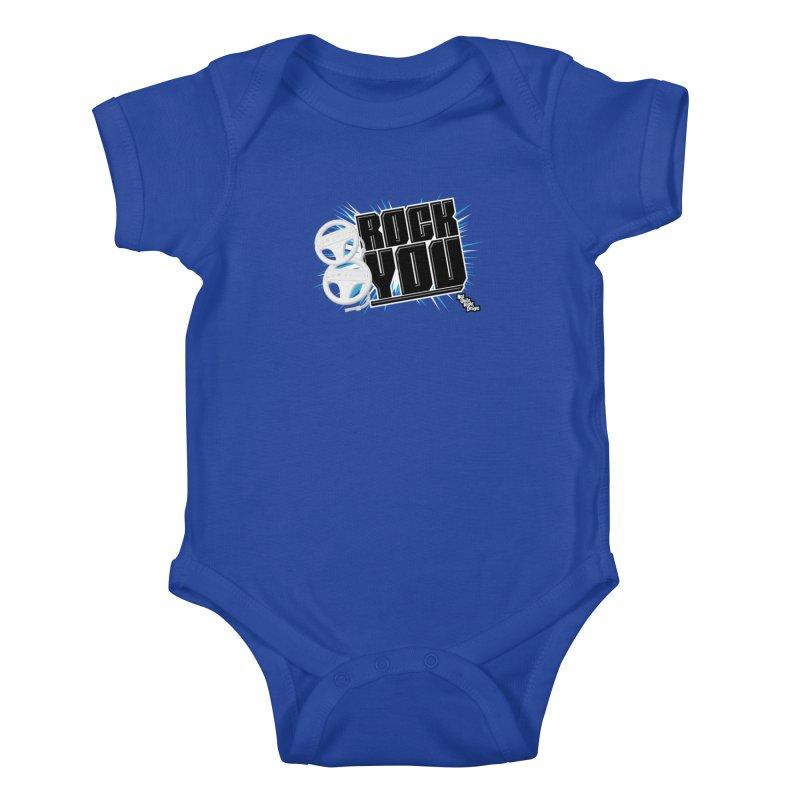 Wii Wheel Wii Wheel Rock You Kids Baby Bodysuit by NotQuiteRightDesigns