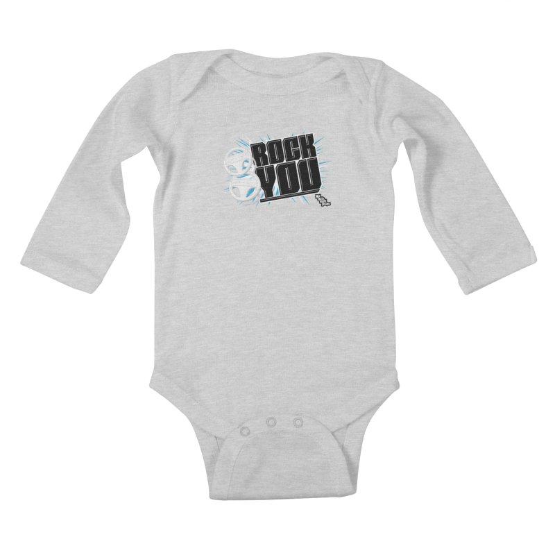 Wii Wheel Wii Wheel Rock You Kids Baby Longsleeve Bodysuit by NotQuiteRightDesigns