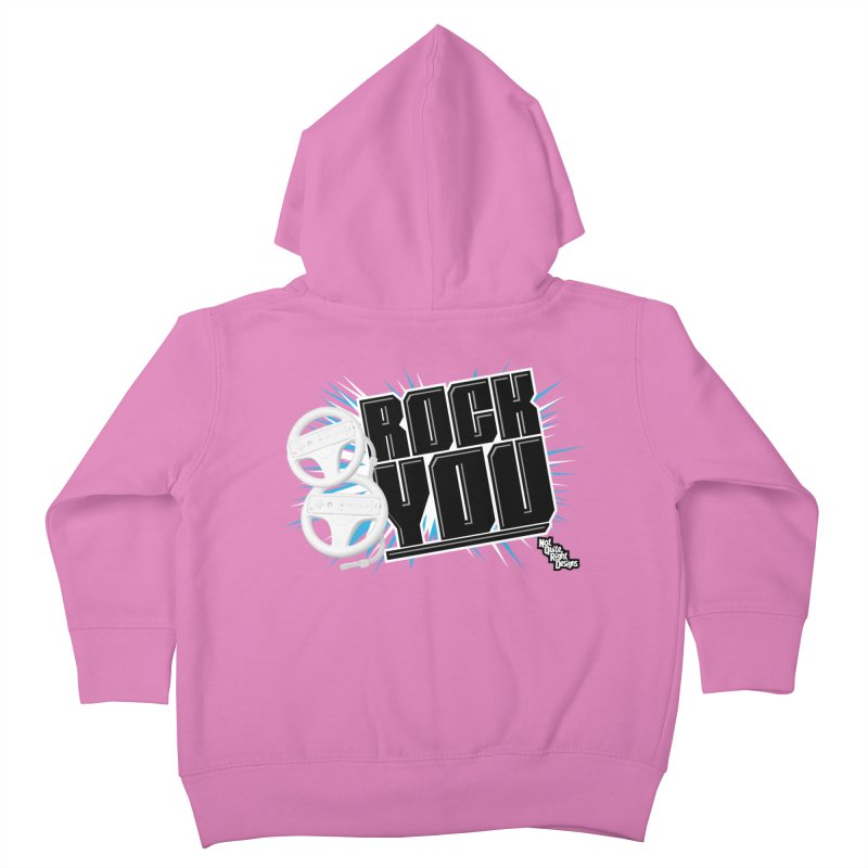 Wii Wheel Wii Wheel Rock You Kids Toddler Zip-Up Hoody by NotQuiteRightDesigns