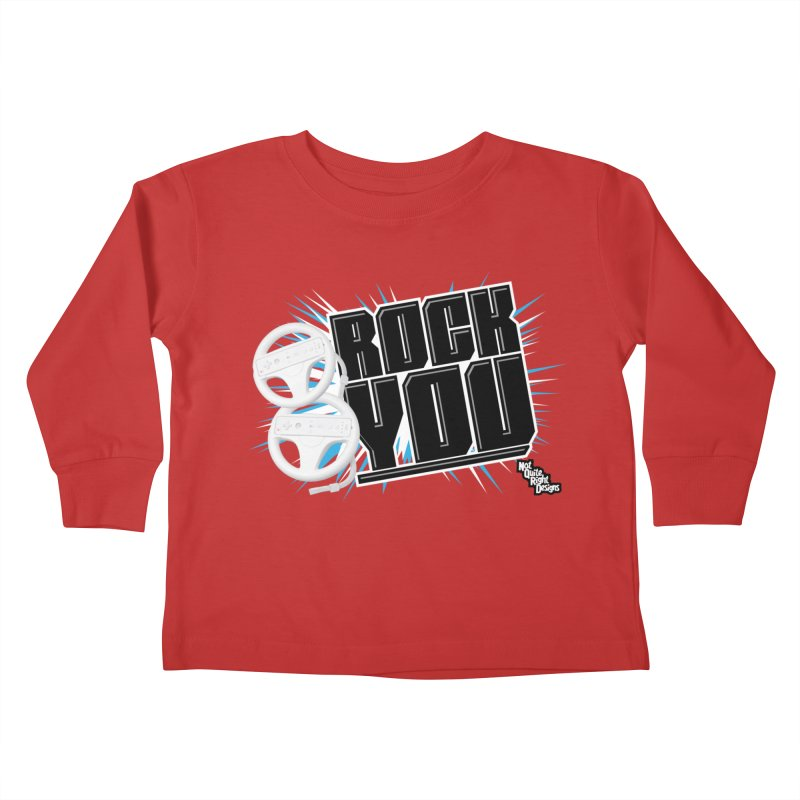 Wii Wheel Wii Wheel Rock You Kids Toddler Longsleeve T-Shirt by NotQuiteRightDesigns