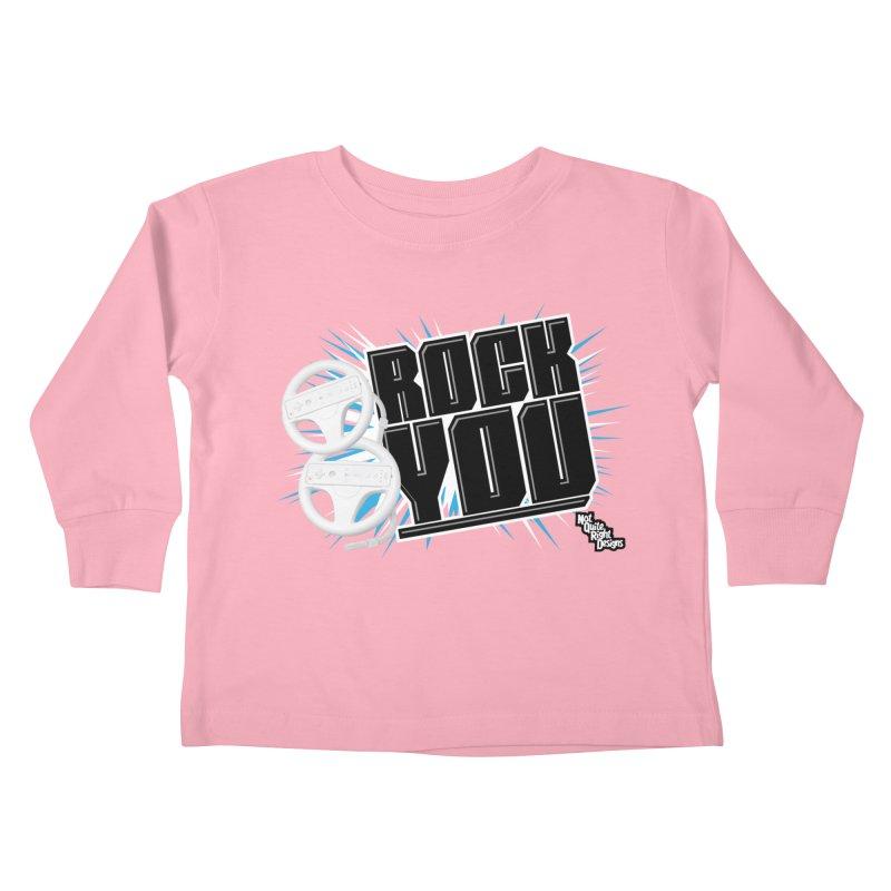 Wii Wheel Wii Wheel Rock You Kids Toddler Longsleeve T-Shirt by NotQuiteRightDesigns