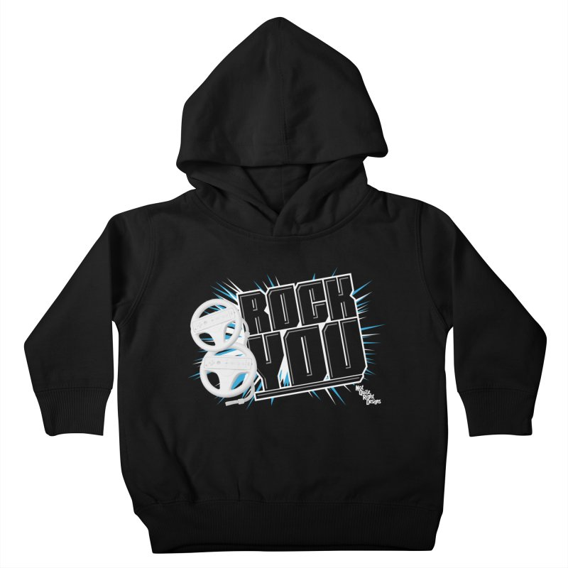 Wii Wheel Wii Wheel Rock You Kids Toddler Pullover Hoody by NotQuiteRightDesigns