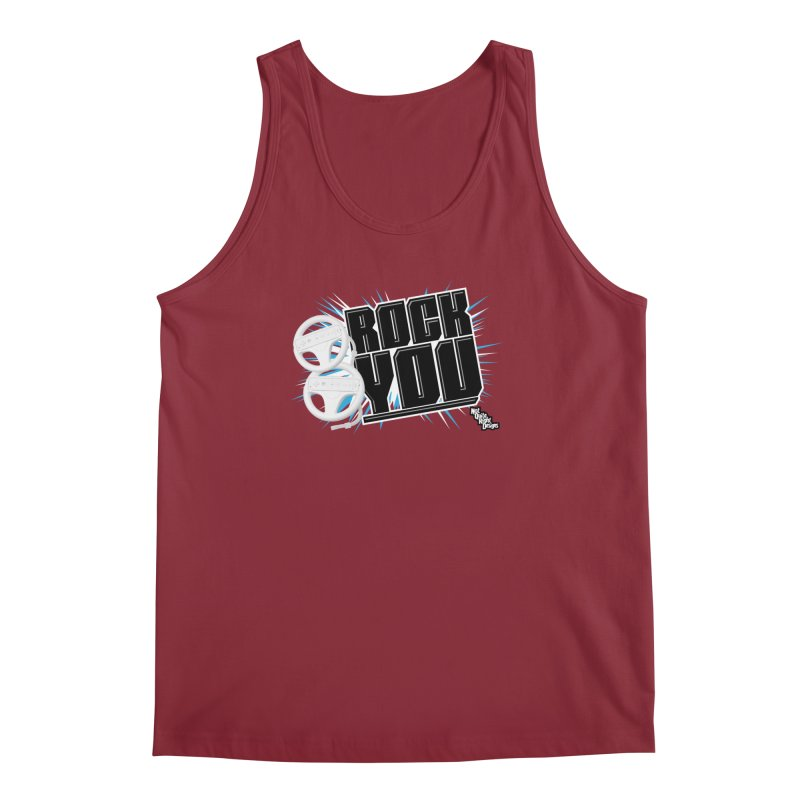Wii Wheel Wii Wheel Rock You Men's Tank by NotQuiteRightDesigns