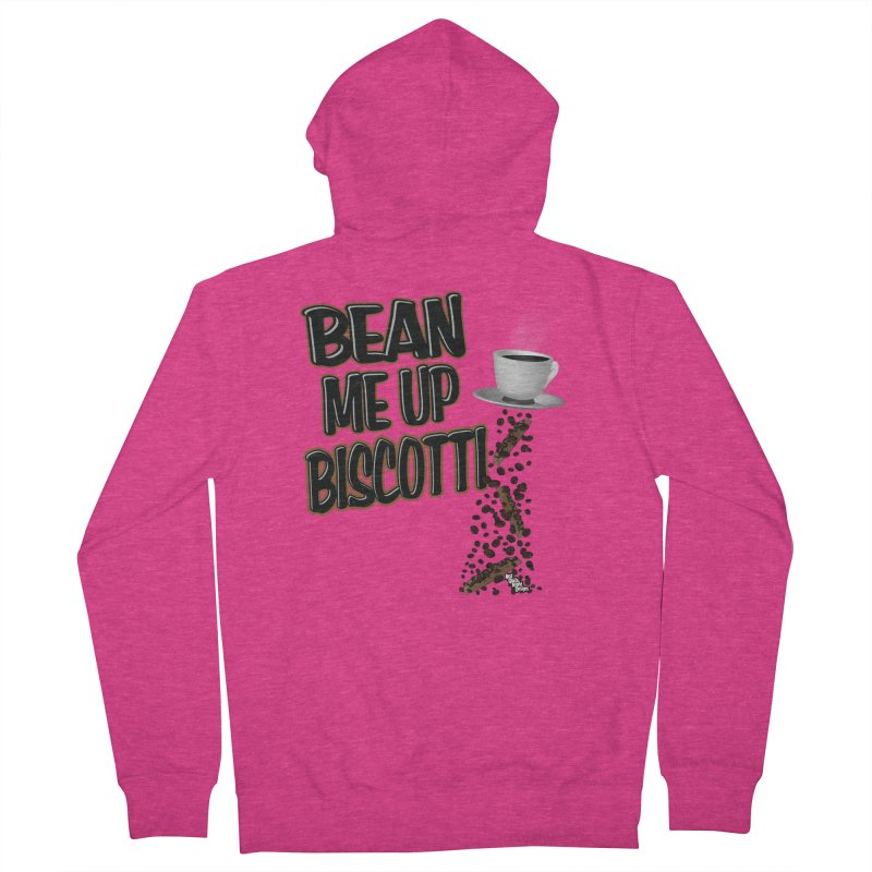 BEAN ME UP BISCOTTI Women's Zip-Up Hoody by NotQuiteRightDesigns