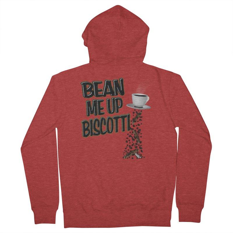 BEAN ME UP BISCOTTI Men's Zip-Up Hoody by NotQuiteRightDesigns