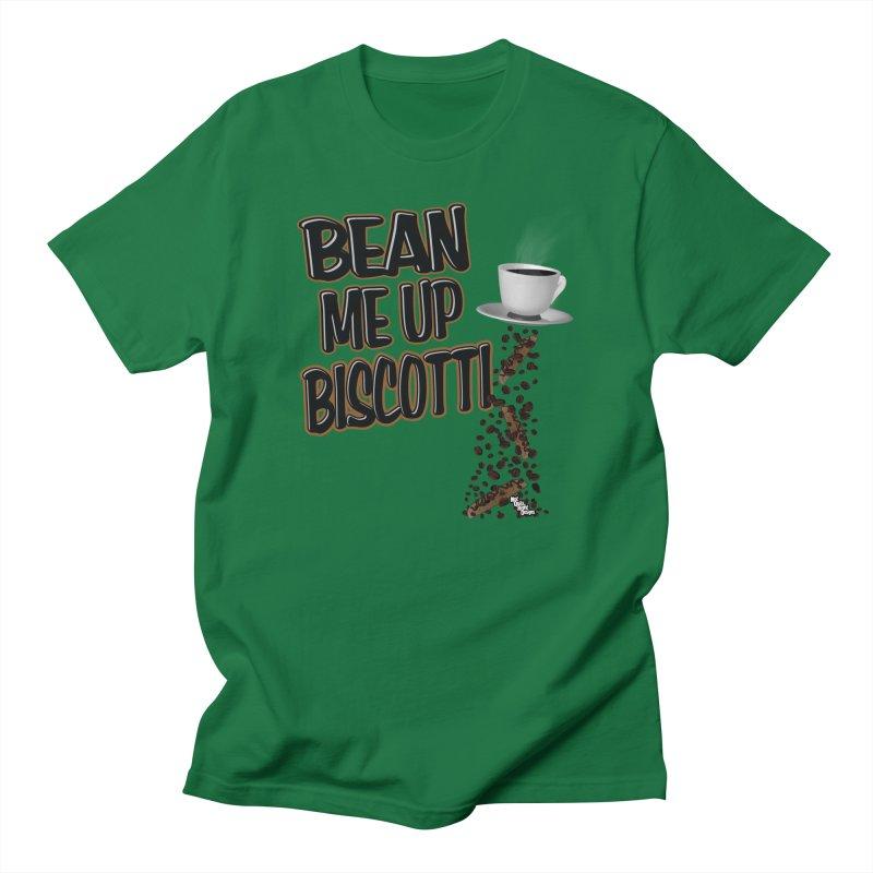 BEAN ME UP BISCOTTI Men's T-shirt by NotQuiteRightDesigns