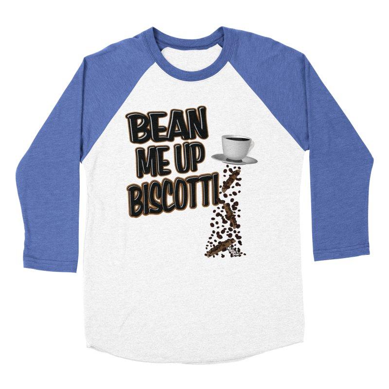 BEAN ME UP BISCOTTI Men's Baseball Triblend T-Shirt by NotQuiteRightDesigns