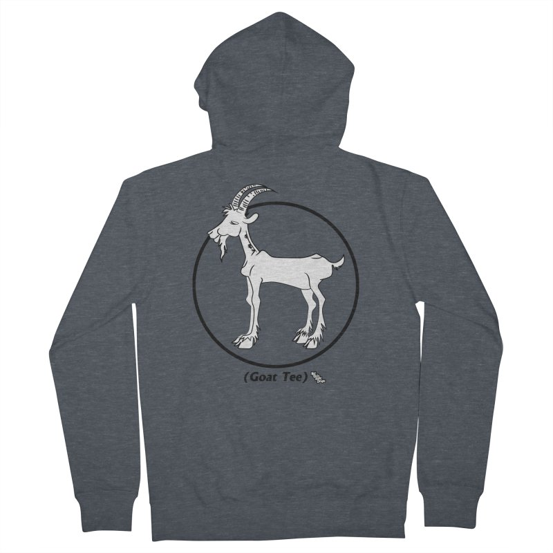 GOAT TEE Women's Zip-Up Hoody by NotQuiteRightDesigns