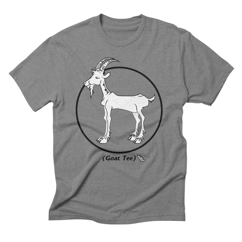 GOAT TEE Men's Triblend T-shirt by NotQuiteRightDesigns