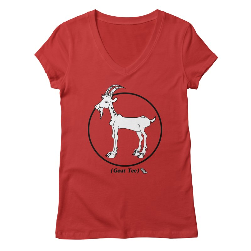 GOAT TEE Women's V-Neck by NotQuiteRightDesigns