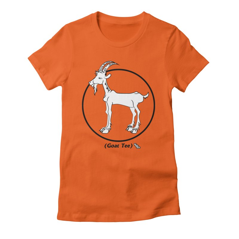 GOAT TEE Women's Fitted T-Shirt by NotQuiteRightDesigns