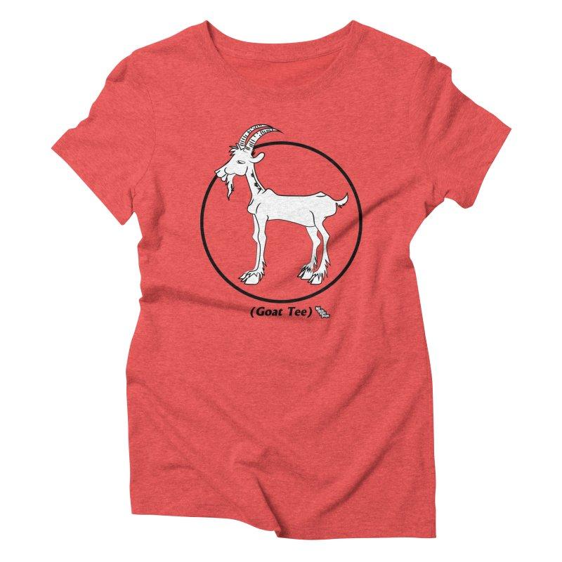 GOAT TEE Women's Triblend T-shirt by NotQuiteRightDesigns